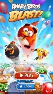 الواجهة الاساسية بعد تحميل لعبة Angry Birds Blast للاندرويد