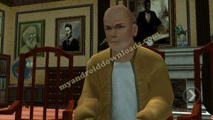 جيمي في غرفة الادارة بعد تحميل لعبة bully للاندرويد