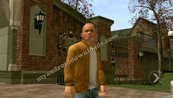 بعد تحميل لعبة bully للاندرويد سوف تشاهد وحه جيمي ممتلئ باللكمات - تحميل لعبة شغب في مدارس لندن للاندرويد