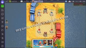 لتدمير قوات العدو انزل القوات و العناصر بعد تثبيت لعبة بيرق على الكمبيوتر