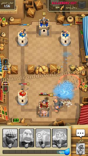 مواجهة الاعداء في لعبة بيرق بعد تحميل لعبة بيرق للاندرويد tribal mania