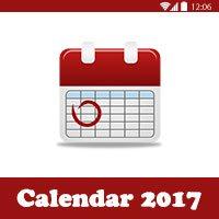 التقويم الميلادي 2017 التقويم الميلادي والهجري لعام 2017 صورة كاملة للطباعة + PDF