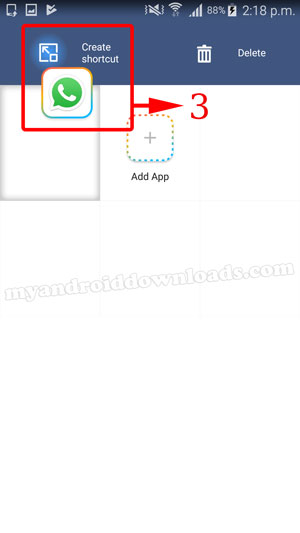 إنشاء اختصار لتشغيل واتس اب برقمين مختلفين بجهاز واحد