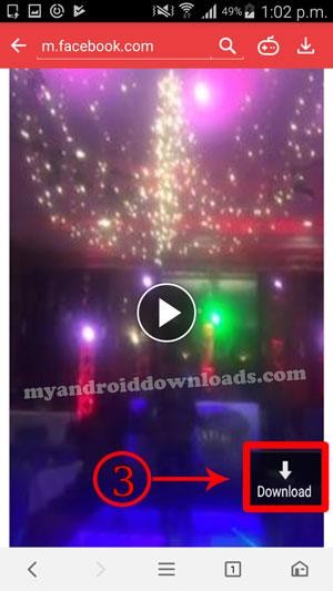 كيفية تنزيل فيديو من الفيس بوك بالضغط على زر التحميل
