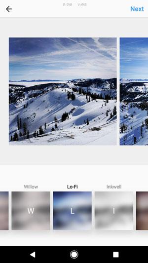 إمكانية إضافة تأثيرات الفلاتر على كل صور الالبوم في تحديث انستقرام عربي