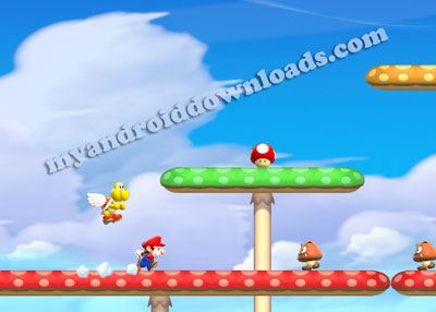 الفطر العملاق Super Mushrooms بعد تحميل لعبة ماريو الجديدة