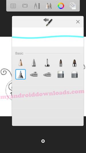 كيفية الإختيار من بين ادوات الرسم والتلوين المختلفة - تحميل برنامج sketchbook pro للاندرويد
