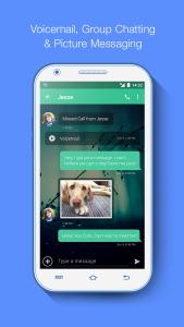 إمكانية إرسال رسائل نصية و صور بإستخدام برنامج رقم امريكي 2017 Textnow