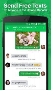 إمكانية إجراء محادثات نصية مع برنامج رقم امريكي مجاني Textplus