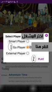 اضغط على Go Player ثم Play