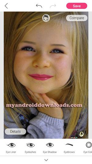 تستطيع من خلال برنامج ميك اجراء تعديلات مميزة على كافة ملامح الوجه و العين خاصة