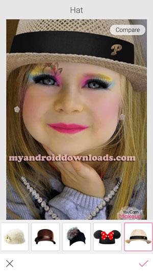 يمكنك من خلال برنامج youcan makeup اضافة التعديلات على الشعر كما تريد على الصورة