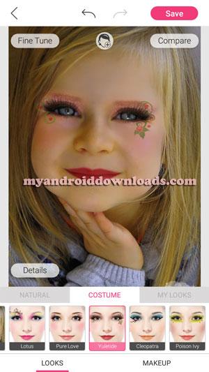 تمتع باضافة لون البشرة الذي تريده كما تريد بعد النقر على looke , makeup
