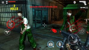 اثناء محاربة وقتل الزومبي بعد تنزيل لعبة dead target