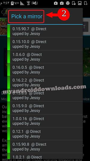 الاختيار من بين العديد من المواقع للتحميل مباشرة في تطبيق get apk