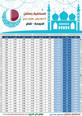 امساكية رمضان 2017 الدوحة قطر تقويم رمضان 1438 Ramadan Imsakiye 2017 Doha Qatar