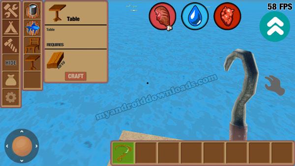 كيفية صيد الاشياء في لعبة raft للموبايل