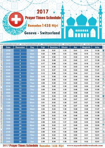 امساكية رمضان 2017 جنيف سويسرا تقويم رمضان 1438 Ramadan Imsakiye 2017 Geneva Switzerland