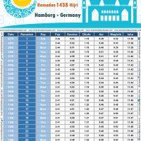 امساكية رمضان 2017 هامبورغ المانيا تقويم رمضان 1438 Ramadan Imsakiye 2017 hamburg Germany Ramadan 2017 Uhrzeiten