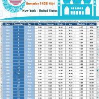 امساكية رمضان 2017 نيويورك الولايات المتحدة الامريكية تقويم رمضان 1438 Ramadan Imsakiye 2017 New York City United States of America