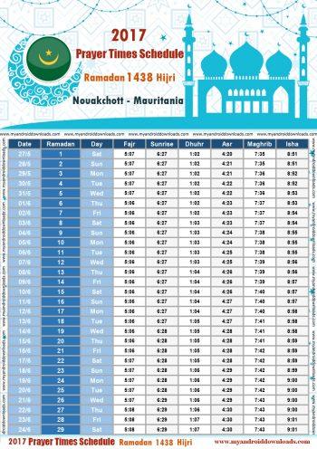 امساكية رمضان 2017 موريتانيا نواكشوط تقويم رمضان 1438 Ramadan Imsakiye 2017 Mauritania Nouakchott