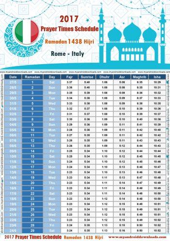 امساكية رمضان 2017 روما ايطاليا تقويم رمضان 1438 Ramadan Imsakiye 2017 Alriyadh Italy Calendario Ramadan 2017