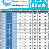 امساكية رمضان 2017 واشنطن امريكا تقويم رمضان 1938 Ramadan Imsakiye 2017 Washington USA Ramadan Prayer Times 2017