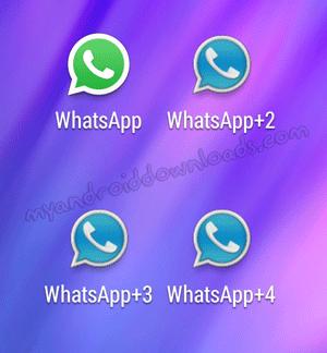 صورة بعد تحميل Whatsapp+4 مع الواتساب الاصلي