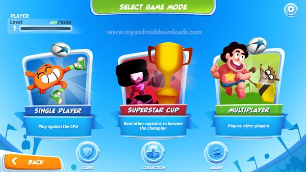 اختار طريقة اللعب واسلوب اللعب المناسب بعد تحميل لعبة copa toon للجوال