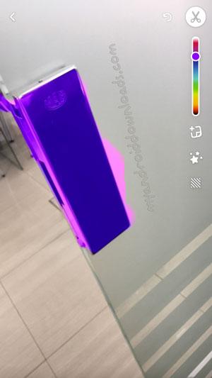 تغيير لون جزء من الصورة بعد تحميل سناب شات للاندرويد بدون روت