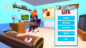 شاشة البداية في لعبة حياة اليوتيوبرز Youtubers Life Game