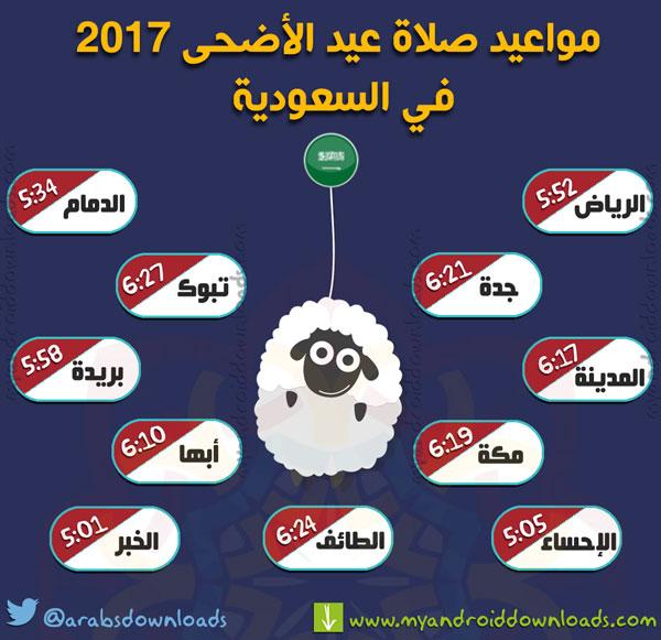 وقت صلاة عيد الاضحى 2017 في السعودية جميع المدن ( وقت صلاة العيد الاضحى المبارك )
