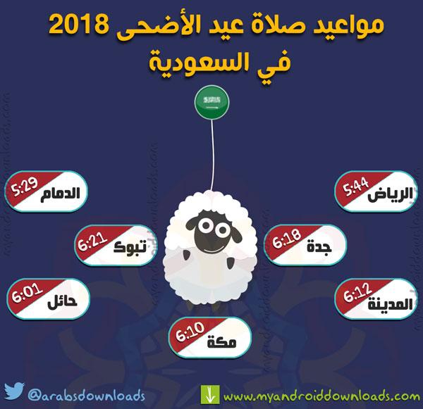 وقت صلاة عيد الاضحى 2018 في السعودية