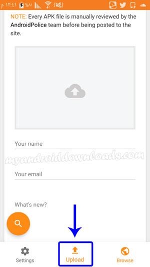 رفع المستخدمين للملفات بعد تحميل تطبيق ApkMirror للاندرويد