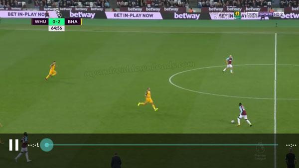 إمكانية مشاهدة مبارايات كرة القدم بعد تنزيل Swift streamz