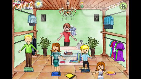 اختيار وشراء الملابيس في لعبة my play home