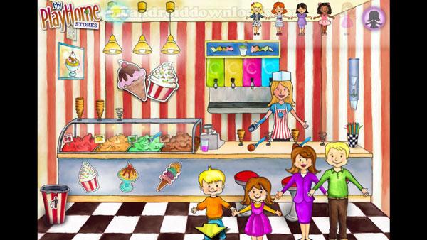 شراء المثلجات بعد تحميل لعبة ماي بلاي هوم للاندرويد