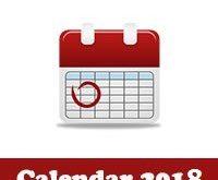 التقويم الميلادي 2018 التقويم الميلادي والهجري لعام 2018 صورة كاملة للطباعة