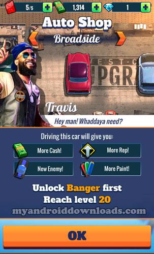 متجر السيارات في لعبة FastlaneRoad to Revenge للاندرويد - العاب سباق سيارات