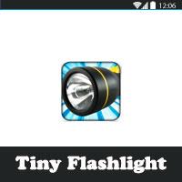 تحميل برنامج الكشاف Tiny Flashlight المصباح اليدوي للاندرويد