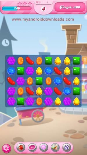 حطم الحلوى بتجميعها بشكل افقي او راسي - لعبة كاندي كراش التحديث الجديد