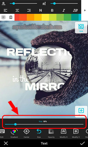 طريقة إضافة نص على الصورة وتلوينه و اختيار نوع الخط – تحميل أفضل تطبيقات الكتابة على الصور للاندرويد
