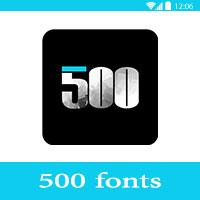 500fonts – تحميل افضل تطبيقات كتابة على الصور للاندرويد مجانا