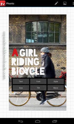 طريقة التعديل على النص ولونه ونوع الخط – تحميل أفضل تطبيقات الكتابة على الصور للاندرويد