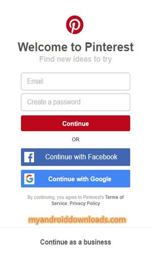 شاشة التسجيل في Pinterest