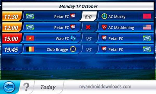 جدول مباريات اليوم Top Eleven بين الفرق