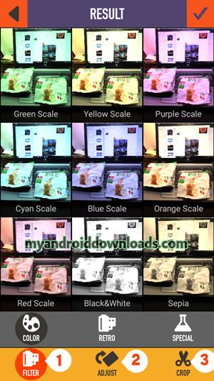 فلاتر Clone Camera وامكانية قص الحواف وتدوير الصورة
