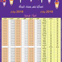 امساكية رمضان 2018 فرجينيا الولايات المتحدة الامريكية تقويم رمضان 1439 Ramadan Imsakiye 2018 Washington United States of America