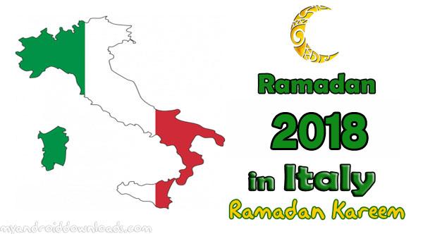 تحميل امساكية رمضان 2018 ايطاليا تقويم رمضان 1439 هـ Ramadan Imsakia