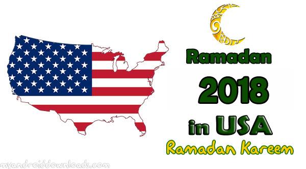 America Ramadan 2018 Calendar امساكية رمضان امريكا